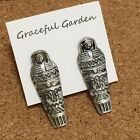 ER2896 Graceful Garden Acient Egyptian Style Sarcophagus Mummy Stud Earrings
