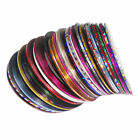 AR02 4 Pcs, 32 Pcs 18M Nail Art Strip Mini Adhesive Decorative Thread-Normal Col