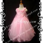 #PF9 Flower Girl Wedding Pageant Gowns Dresses Pink 3 4 5 6 7 8 9 10 11 12 13 14