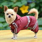 Pets Dog Cool Outdoor Rain Coat Jacket Puppy Apparel Waterproof Clothes With Hat