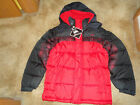Vertical 9 Puffer Jacket Hooded Ski Coat Black & Red NEW WITH TAG