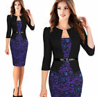 Women's Elegant Party Wear To Work Business Cocktail Bodycon Pencil Prom Dress