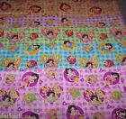 DISNEY Princess CINDERELLA Aurora SNOW WHITE on PLAID Cotton Blend bty