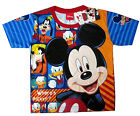 MICKEY MOUSE DONALD DUCK GOOFY boys vibrant summer t-shirt S-XL 4-8y Free Ship