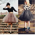 Tulle Skirts Fashion Women Skirts Summer Pleated Knee-Length Multi Layers Skirts