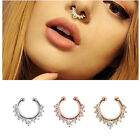 Non Piercing Silver Gold Plated Fake Lip Nose Eyebrow Belly Nipple Body Ring HOT