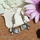 ER2910 Graceful Garden Vintage Style Antique Silver Tone Hafted Axe Ax Earrings