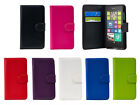 Leather Wallet/Flip Book Case Cover For Microsoft/Nokia 3 5 6 8