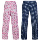 Marks & Spencer Womens Polka Dot Cotton Pyjama Bottoms M&S Spotty PJ Lounge Pant