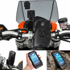Motorcycle Handlebar Clamp Bolt Mount + Tough Case for Samsung Galaxy S4