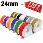 """24mm 1"""" PIN STRIPE PinStriping SINGLE Line TAPE Decal Stickers Car Motorcycles"""