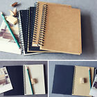 Внешний вид - Reeves Hard Back Spiral Bound Coil Sketch Book Blank Paper Kraft Sketching Paper