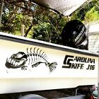2 Skeleton fish boat Decals large Fishing graphic sticker shark salt skiff v6