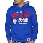 US MARSHALL - SWEAT à CAPUCHE - HOMME - HS401 - BLEU ROYAL ROUGE NEUF