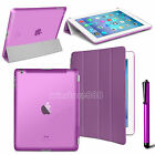 Slim Magnetic Leather Smart Cover Hard Back Case For Apple iPad 2 3 4 5 6 Mini