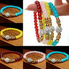 Fashion Women's 4 Sweet Candy Colors Round Crystal Bracelet Bangle Cuff Jewelry