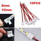 10x 2Pin Flexible Connector Solderless For Single Color 3528 5050 5630 Led Strip
