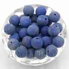 Natural Unpolished Matte Frosted Gemstones Round Spacer Loose Beads Freeshipping