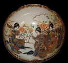"FABULOUS VINTAGE CHINESE 10"" BOWL HAND PAINTED MORIAGE HEAVY GILD ORIENTAL"