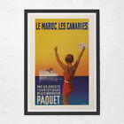 MOROCCO TRAVEL POSTER - Canary Islands Travel Poster - Vintage Poster, Nautical