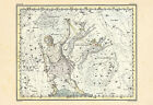 ZODIAC Wall Art - Bootes and Canes Venatici Map Print - Professional Reproductio