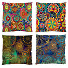 """Image 2 Side SOFT FEEL-Moroccan Print/Grunge Colours CUSHION CASE 51cm / 20"""""""