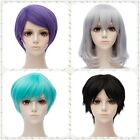 Men/Women Anime Fashion Short Wig Cosplay Party Straight Hair Cosplay Full Wigs