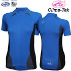 CC-UK Clima-Tek CoolDry Womens Cycling Jersey, 1/2 Zipper, Blue