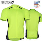 FIOLLA Cyclo-Dri Short Sleeve Mens Cycling Jersey Noen Hi Viz Full Zipper
