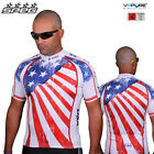 SPEG USA American Mens Short Sleeve Cycling Jerseys Full Zipper 100% Vapore