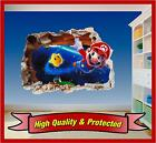 Super Mario Brothers Hole in Wall 4 - Print Vinyl Sticker Decal Children Bedroom