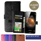 NEW Premium Flip Leather Wallet Case Cover For Huawei Ascend G8+Screen Protector