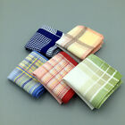 2PCS 100% Cotton Check Handkerchief Pocket Square Hanky Fashion Hot Sale 29*29cm