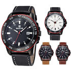 Fashion Men's Exquisite Sports Casual Leather Band Quartz Wrist Watch New