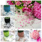 8mm&3mm Pearl Bead Garland Spool Rope 6 color flower Hair  Craft Accessories