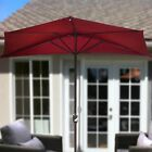 10' Umbrella Wall Balcony Half  Patio Sun Shade Garden Outdoor Parasol