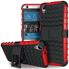 HTC Desire 626 Dual Layer Shockproof Cover Hybrid Rugged Case with Kickstand