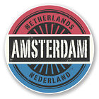 2 x 10cm Amsterdam Netherlands Sticker Car Bike Laptop Travel Luggage Tag #6724