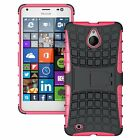 Microsoft Lumia 850 Dual Layer Shockproof Cover Hybrid Rugged Case w/ Kickstand