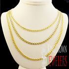 """Men's New 4mm Thick 100% Real 10k Yellow Gold Cuban Curb Necklace Chain 16""""~24"""""""