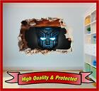 Transformers Autobot Hole In Wall - Printed Vinyl Sticker Decal Children Bedroom