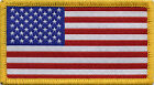 American Flag USA Stars and Stripes Badge Patch 8cm x 4.5cm