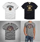 Abercrombie & Fitch Men's Applique Logo Graphic Tee (Navy, White, Grey, L, M)