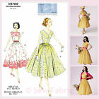 Vogue V8789 Sewing Pattern Misses' Vintage 1950's Dress - Vintage Vogue