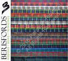 5 METRES Berisfords Scottish Approved Tartan Ribbon CHOOSE WIDTH & DESIGN