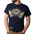 MEN'S PRINT T-SHIRT - SCOTLAND FOREVER TRUE - NAVY - SIZE OPTIONS!