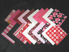 "Fabric Squares - Valentine Mix - 20pc Valentine Blends in 4"" squares"