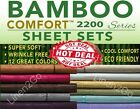 Sheets Pillowcases - 2200 COUNT BAMBOO ULTRA COMFORT BED SHEET SET EMBOSSED 4 PIECE ALL COLORS HERE