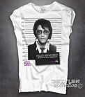 Women's T-shirt Elvis Presley photo signs celebrities mugshot