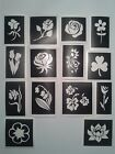 10 - 400 flower stencils (mixed) for etching glass  tulip bluebell rose orchid